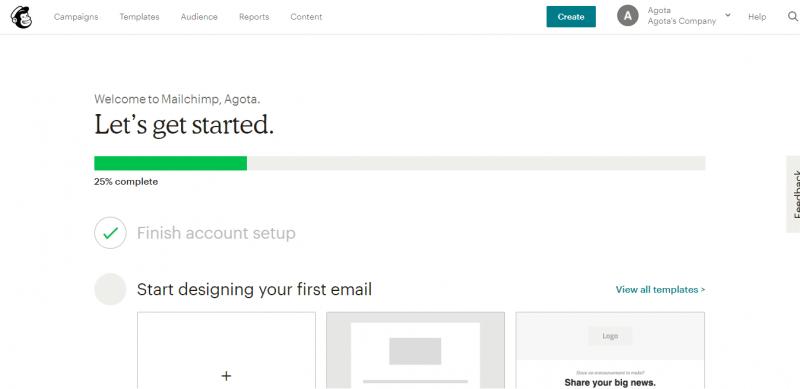 Thiết kế email đầu tiên trong Mailchimp