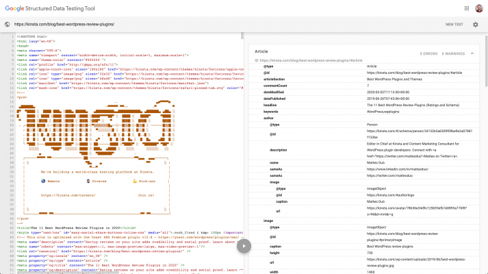 Lược đồ dữ liệu có cấu trúc của Google