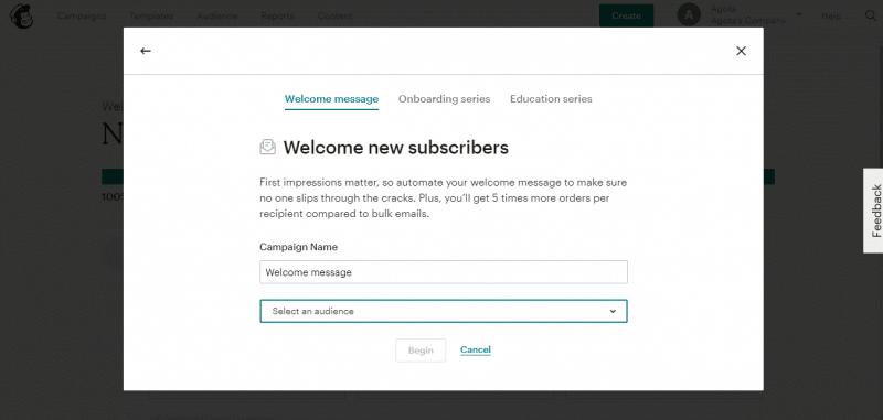 Email trả lời tự động Mailchimp