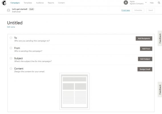 Email quảng bá Mailchimp