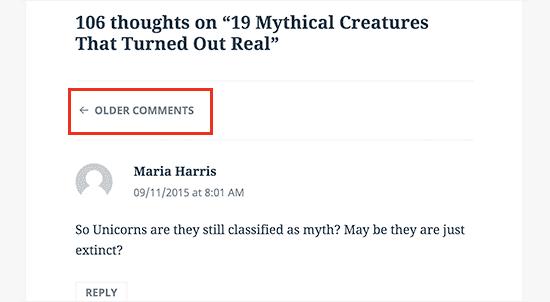 Phân trang cho bình luận