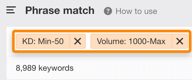 phrase-match-filters