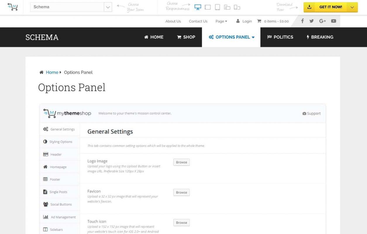 Theme WordPress Schema